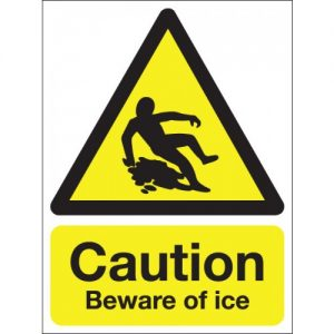 Beware of ice